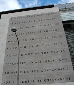 First Amendment, Newseum Bldg, 9/12/09