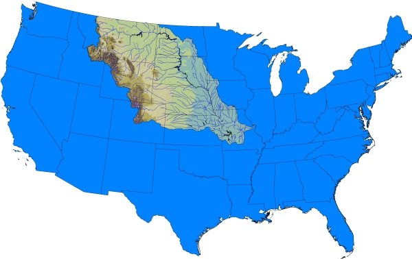 missouri river montana map. The Missouri River is the