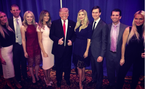 Trump family backstage